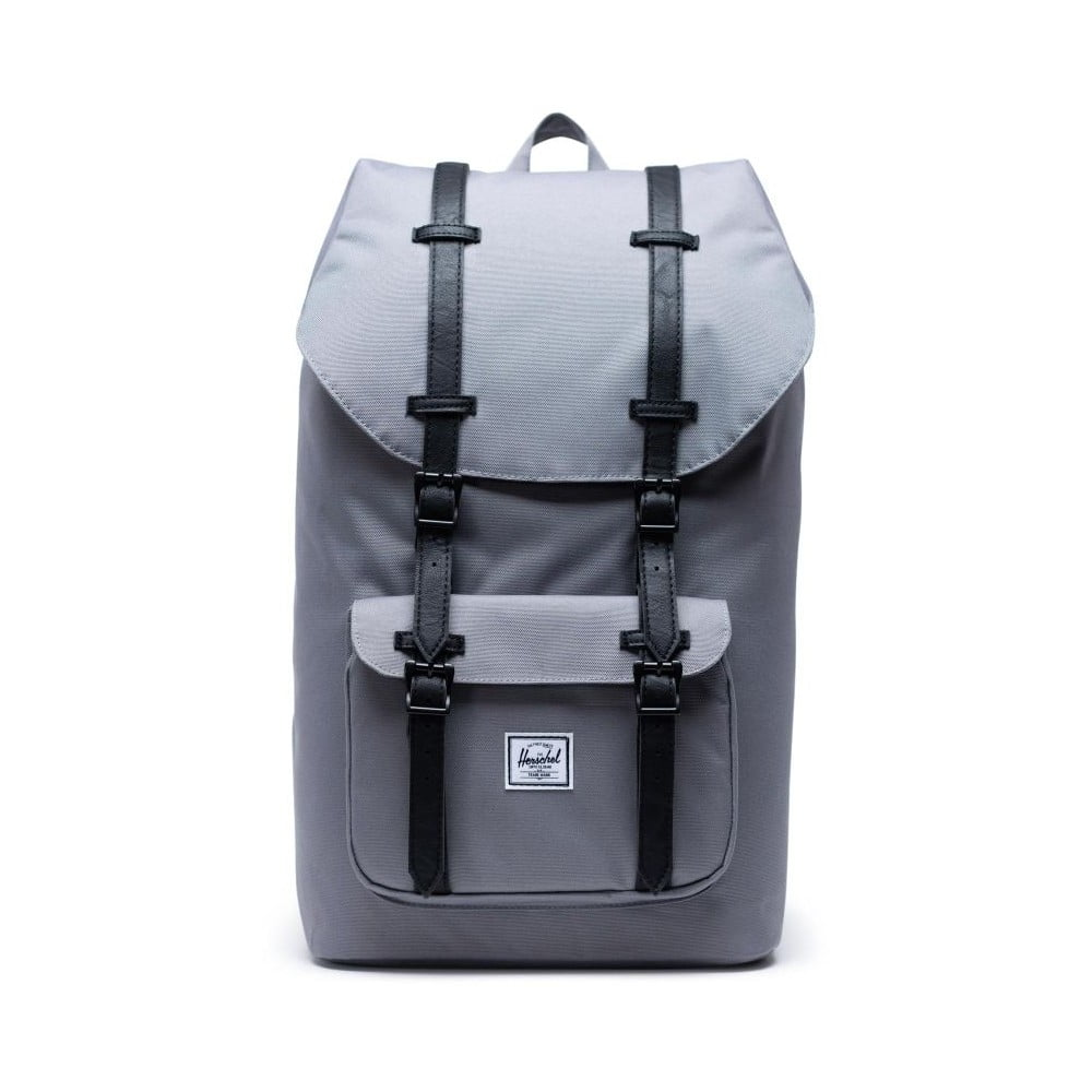 Šedý batoh s černými popruhy Herschel Little America
