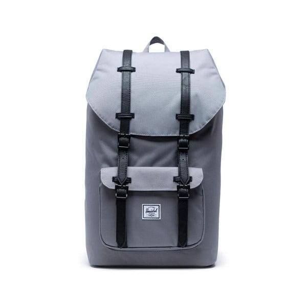 Szary plecak z czarnymi paskami Herschel Little America, 25 l