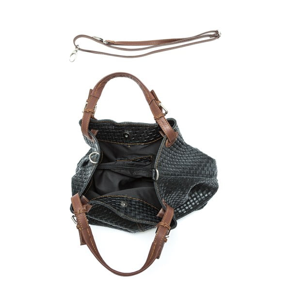 Černá kožená kabelka Isabella Rhea no. 858