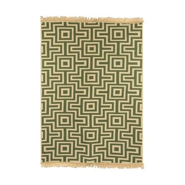 Zelený koberec Ya Rugs Kare, 80x150cm