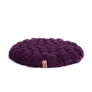 Pernă relaxare cu bile de masaj Lindy Vrňáková Bloom, Ø 75 cm, violet