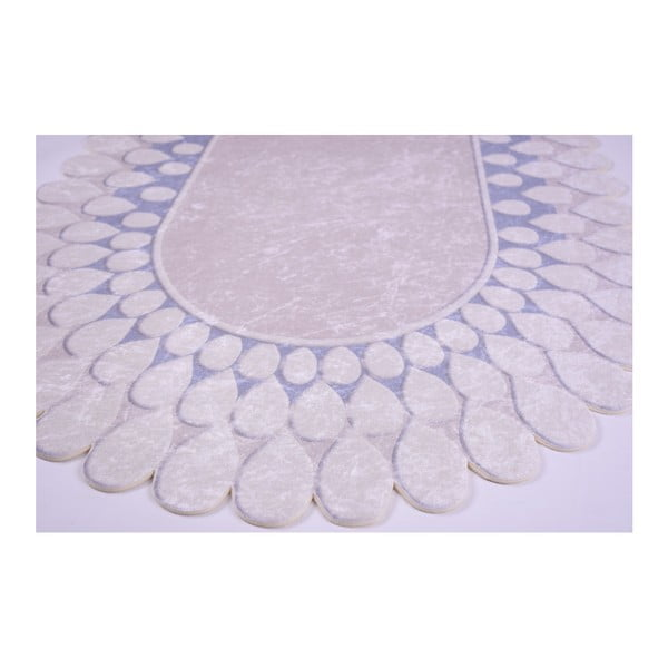 Odolný koberec Vitaus Zinno Oval Mavi, 60 x 100 cm