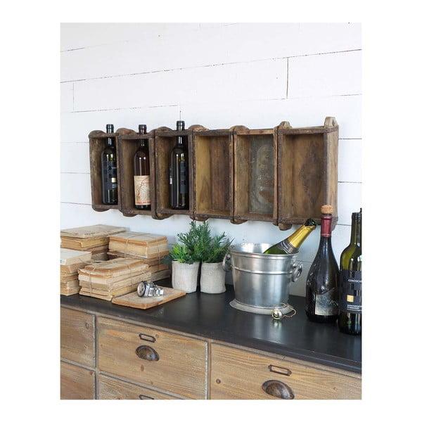 Suport din lemn pentru sticle de vin Orchidea Milano