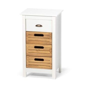 Dulap din lemn de pin și 4 sertare loomi.design Ibiza, alb imagine