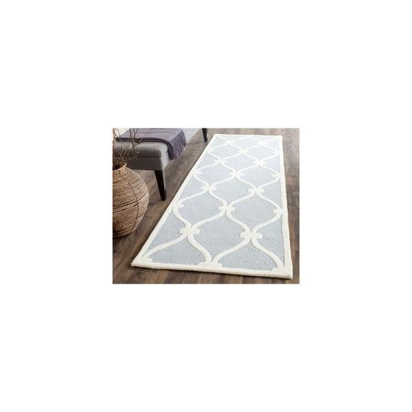 Vlněný koberec Hugo 76x243c m, modrošedý