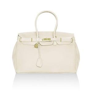 Kožená kabelka Emdo, bílá