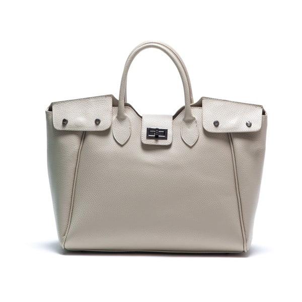 Béžová kožená kabelka Elisa
