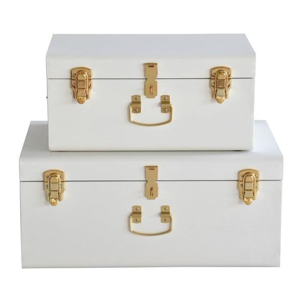 Sada 2 bílých kovových kufříků RGE Stella Matteus