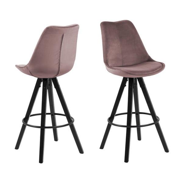 Pudrovoružová barová stolička Actona Dima