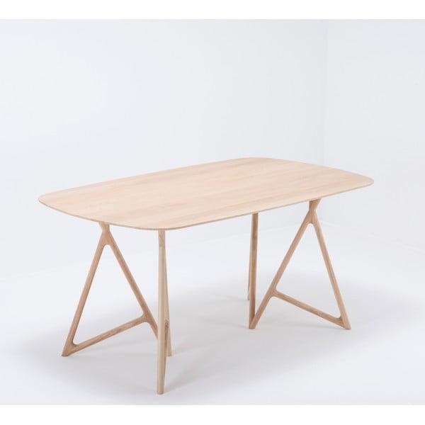 Stół z litego drewna dębowego Gazzda Koza, 160x90cm