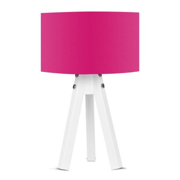 Stolní lampa s růžovým stínítkem Kate Louise Bianca
