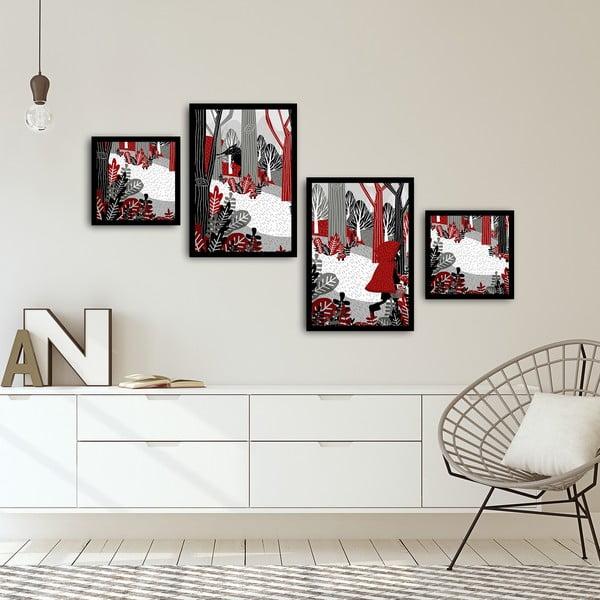 Sada 4 obrazů Alpyros Malso