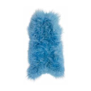 Modrá ovčí kožešina s dlouhým chlupem Arctic Fur Ptelja, 90 x 55 cm