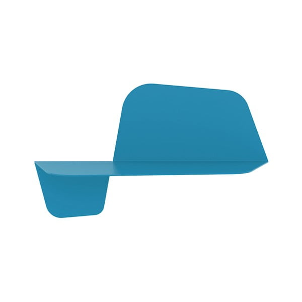 Modrá nástěnná police MEME Design Flap, 60cm