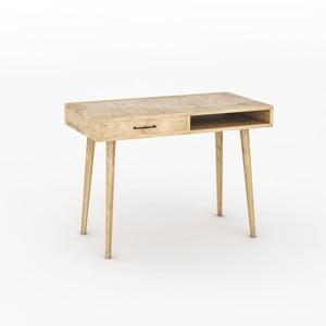 Pracovní stůl v dekoru dubového dřeva Carmen