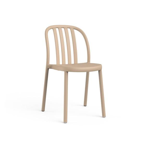 Sada 2 pieskové hnedých záhradných stoličiek Resol Sue