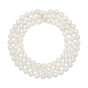 Náhrdelník s bílými perlami Pearldesse Muschel, ⌀1,2xdélka120cm