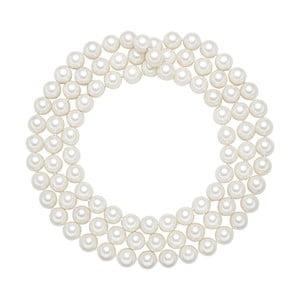 Náhrdelník s bílými perlami Perldesse Muschel, ⌀1,2xdélka120cm