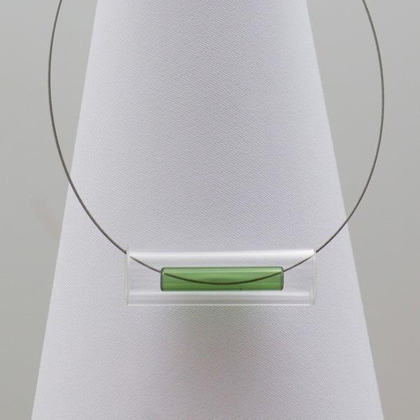 Zielony naszyjnik szklany ko–ra–le Tubes