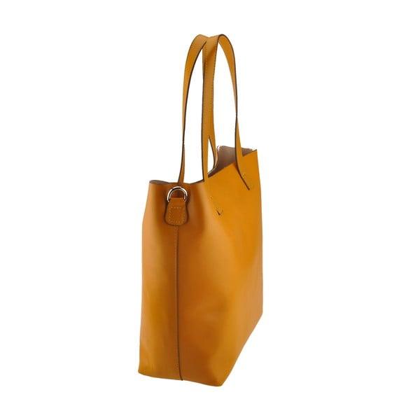 Žlutá kožená kabelka Florence Tangor
