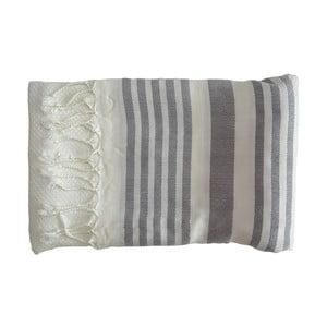 Šedá ručně tkaná osuška z prémiové bavlny Homemania Petek Hammam,100x180 cm