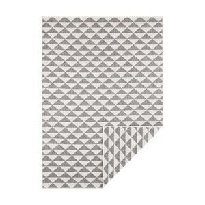Šedo-krémový oboustranný koberec vhodný i na ven Bougari Tahiti, 200 x 290 cm
