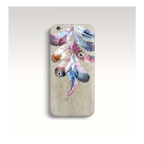 Obal na telefon Wood Feathers  pro iPhone 6/6S