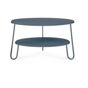 Modrošedý konferenční stolek HARTÔ Eugénie, ⌀ 70cm
