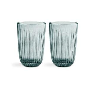 Sada 2 zelených skleněných sklenic Kähler Design Hammershoi, 330 ml