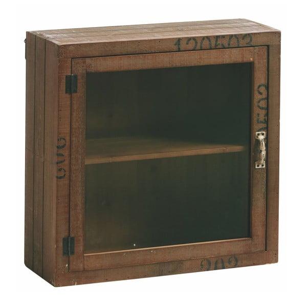 Skříňka se sklěněnými dvířky Antique Look, 50x50 cm