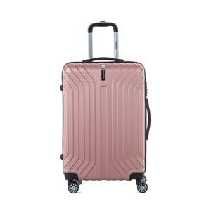 Světle růžový cestovní kufr na kolečkách s kódovým zámkem SINEQUANONE Elisabeth, 71 l