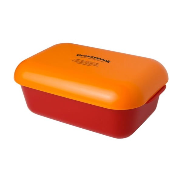 Chladící svačinový box Frozzypack Joyful Edition, red/orange