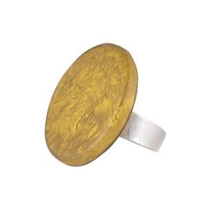 Prsten Round, žlutý