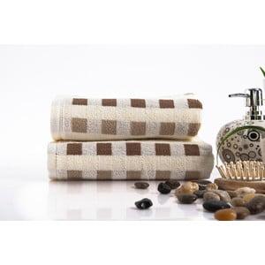 Sada 2 ručníků Liny Brown, 40x80 cm