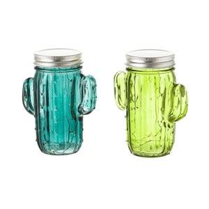 Sada 2 sklenic ve tvaru kaktusu s LED světýlky