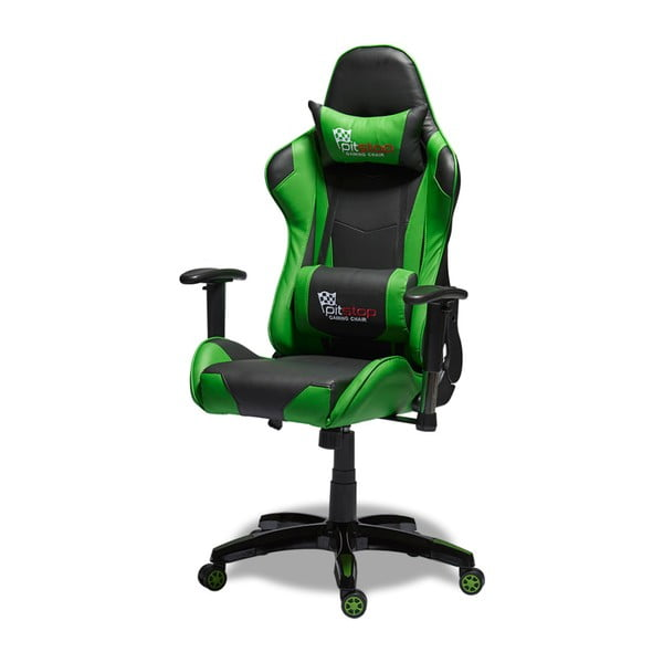 Scaun de birou Furnhouse Gaming, verde - negru