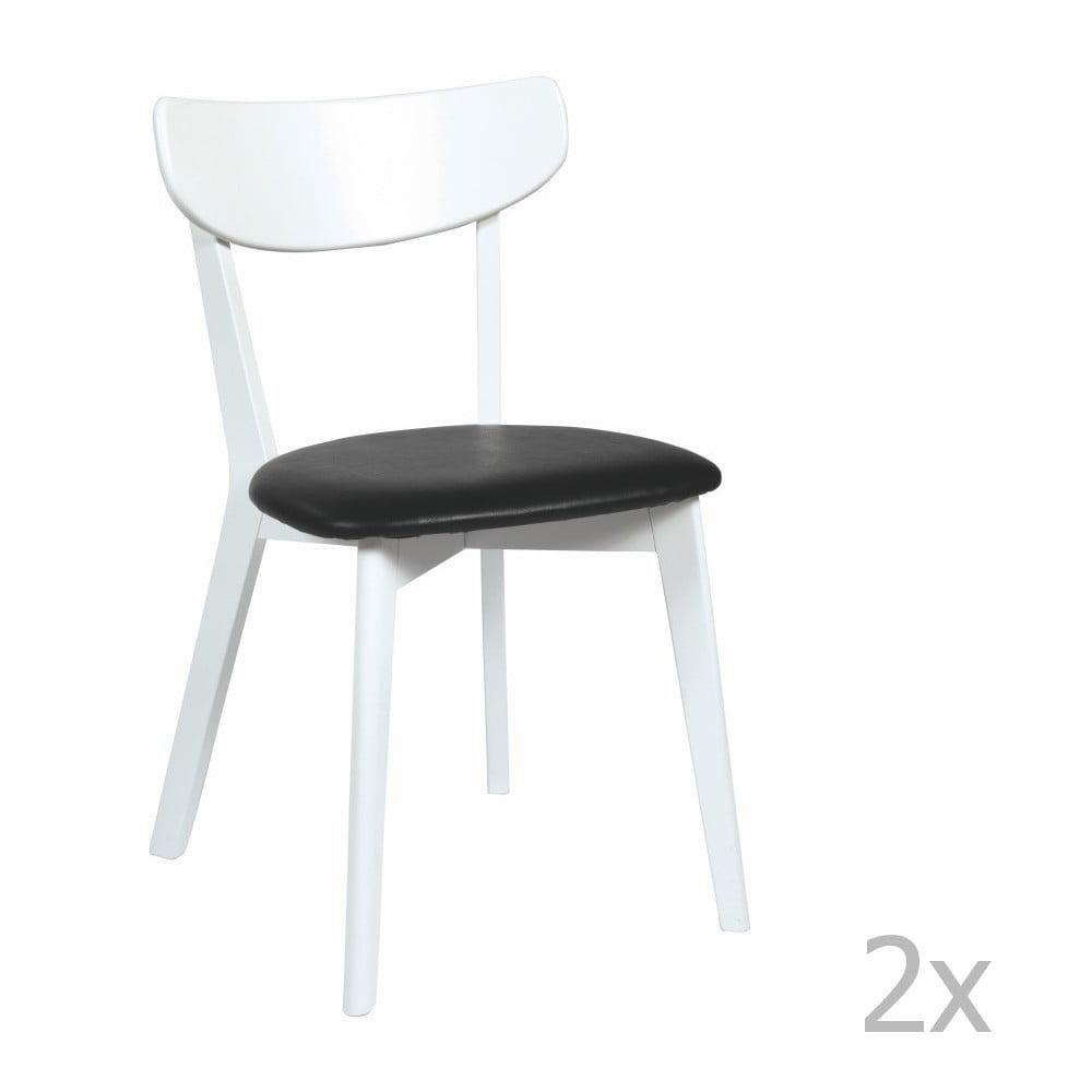Sada 2 černobílých židlí Ami