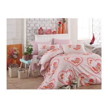 Lenjerie de pat cu cearșaf din bumbac Cissmo Lusmo, 160 x 220 cm de la Hobby