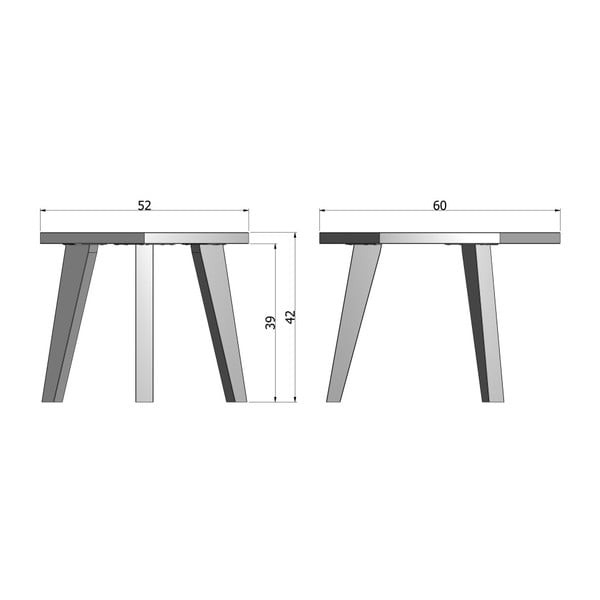 Odkládací stolek z dubového dřeva De Eekhoorn Hex