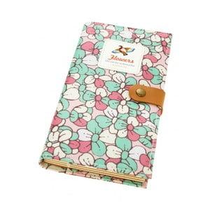 Zápisník Bird, zeleno-růžový