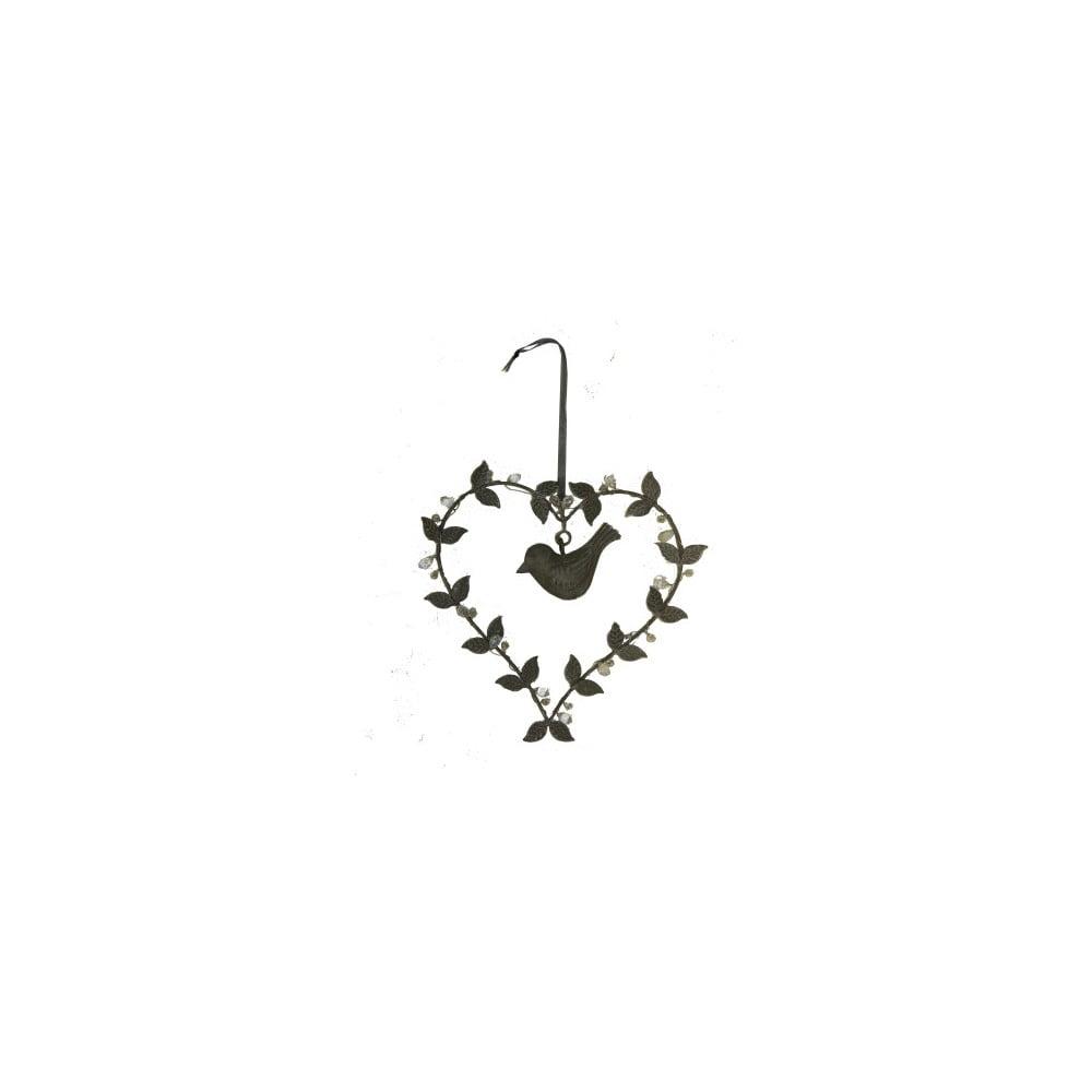 Závěsné dekorativní srdce Antic Line Bird