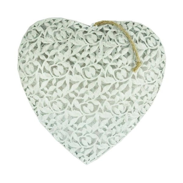 Závěsná dekorace Antic Line Heart, 36x36cm