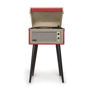 Červený gramofon na nohách Crosley Bermuda