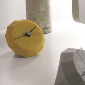 Stolní hodiny Globe, žluté