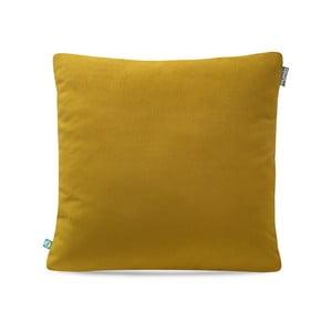 Hořčicově žlutý povlak na polštář Mumla Velour, 45 x 45 cm