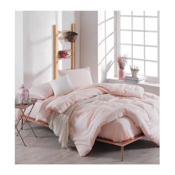 Lenjerie de pat cu cearșaf Basso Merun, 200 x 220 cm, roz deschis de la EnLora Home