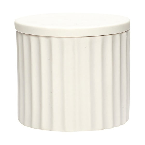 Bílá porcelánová dóza s víčkem Hübsch Dilacerant