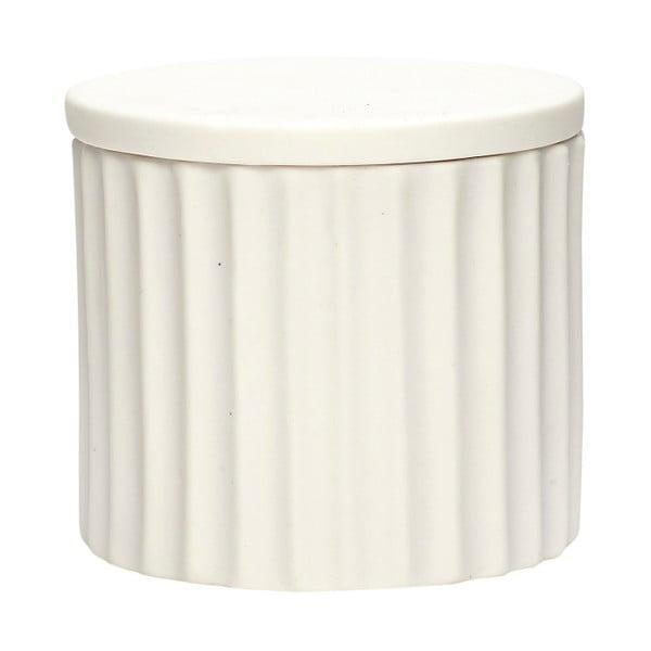 Dilacerant fehér porcelán doboz, fedővel - Hübsch