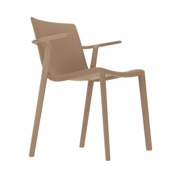 Zestaw 2 piaskowobrązowych krzeseł ogrodowych z podłokietnikami Resol Kat
