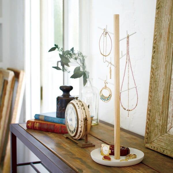 Bílý stojánek na šperky Yamazaki Tosca Branch